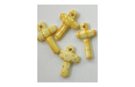 Cruz Cerámica Amarilla