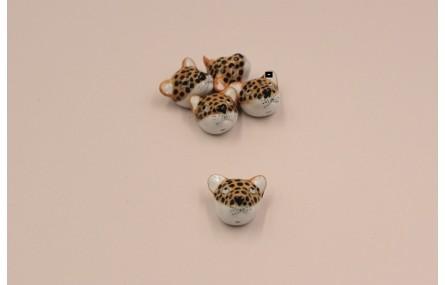 Cabeza tigre cerámica artesana 17*20*15mm