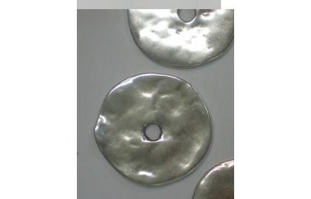 Chapa grande metálica 40mm diámetro y paso de 6mm