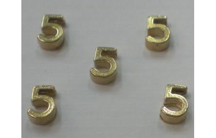 Número 5 7*6*2 Oro