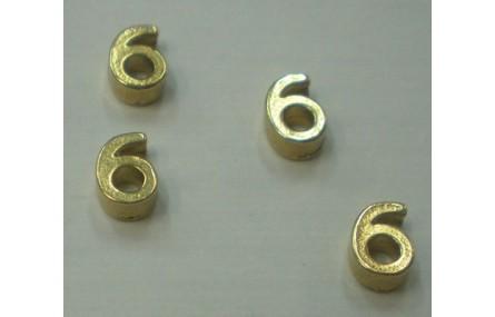 Número 6 7*6*2 Oro