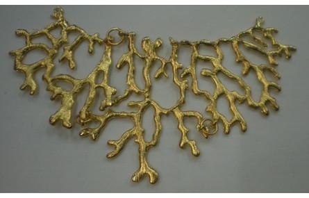 Babero coral 13*7 Oro Mate