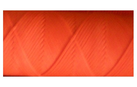 Hilo algodón encerado plano Fluor Naranja