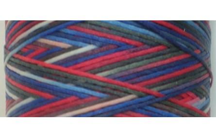 Hilo algodón encerado plano Multicolor Azulado