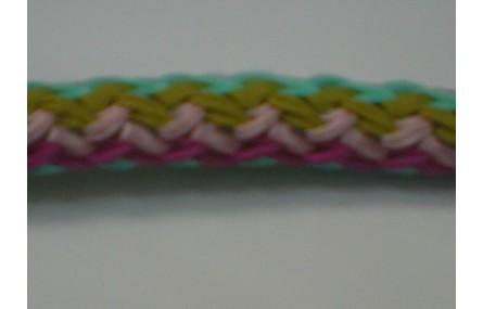 Cordón trenzado multicolor de 10mm Mezcla 3