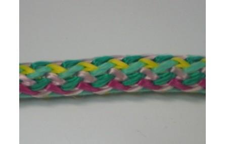 Cordón trenzado multicolor de 10mm Mezcla 5