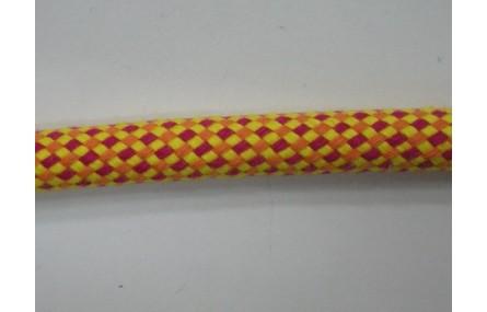 Cordón trenzado mecla amarillo, naranja, rojo