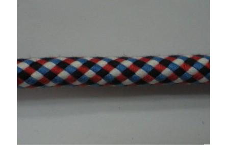 Cordón trenzado mecla Azul, Rojo, Blanco