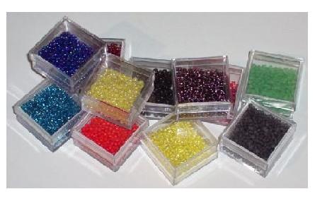10 gramos de Abalorio cristal Multicolor grande