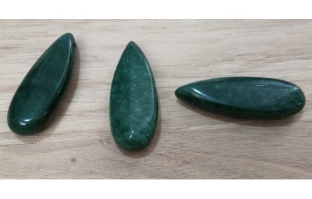 Gota Cuarzo verde 15*40mm