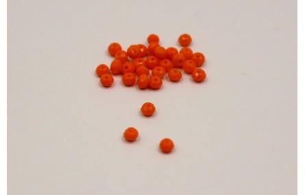 Ovni Facetado 2*3mm Naranja