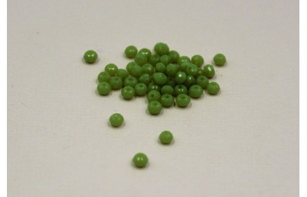 Ovni Facetado 2*3mm verde palido