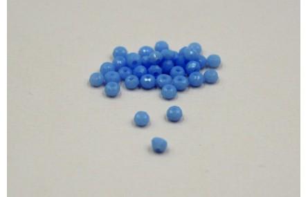 Ovni Facetado 2*3mm Azul