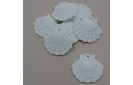 Concha cerámica 30*35mm Blanca