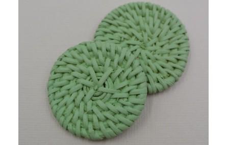 Disco Rafia trenzada 40 Verde