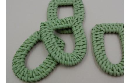 Herradura Refia trenzada 50*35mm verde