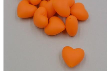 Corazón SILICONA 20*20*10mm Naranja