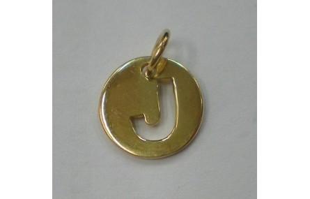 Letra J 10MM con anilla PLATA GOLDFILLED