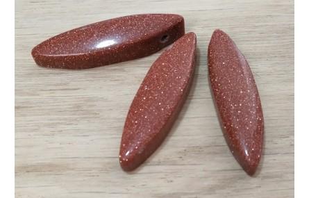 Ovalo Cuarzo rojo 40*10mm