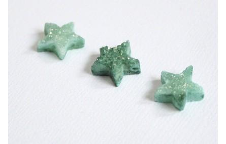 Drusa Estrella 13*13 Verde Turquesa