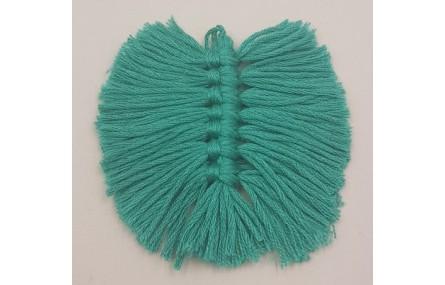 Pluma Tejida 80*65mm Verde