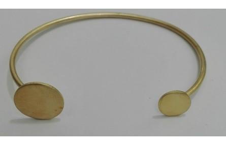 Pulsera 2 discos Oro Mate