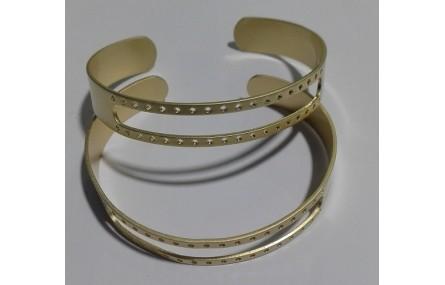 Pulsera 10mm ancho Oro Mate ranura