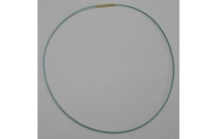 Collar acero espiral 1,4mm*42cms Azul claro