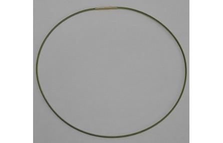 Collar acero espiral 1,4mm*42cms Verde