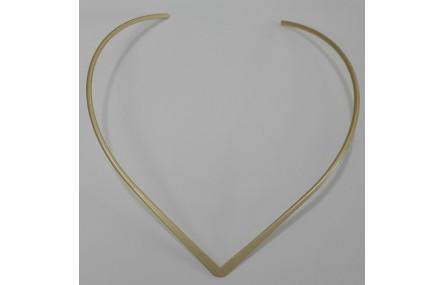Collar lámima forma 4mm ancho oro mate