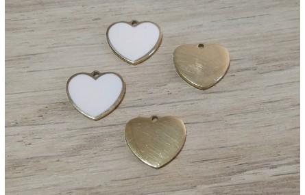 Corazón Ac. Inoxidable 12*10mm Rosa Palo