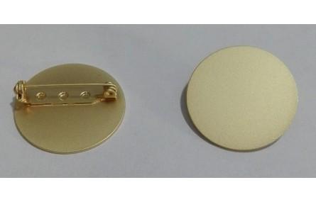 Broche Disco 25mm Oro Mate