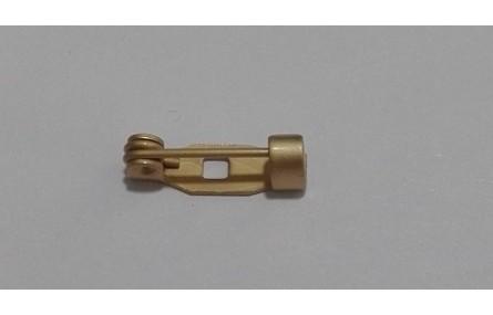 broche 13mm 1 agujero oro mate