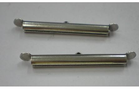 Cierre circular varias bandas 40mm Plata Vieja