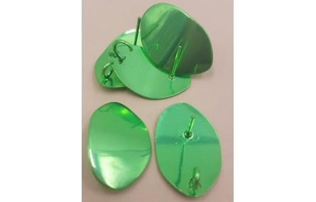 Perno lámina alumiio 27*17mm Verde Metalizado