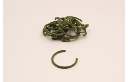 Pendiente Aro aterciopelado 40mm Verde