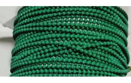 Cadena Bolas 1,2mm verde Agua
