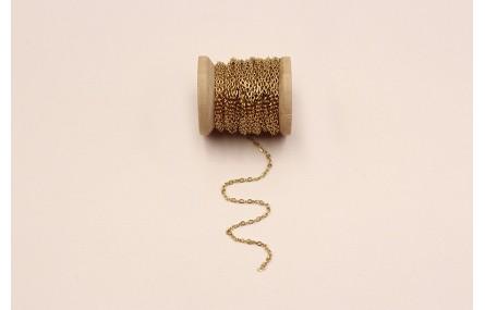 Cadena Acero Inoxidable 1mm Dorada