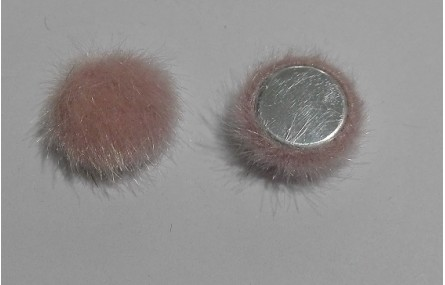 Media bola 15mm de pelo pink