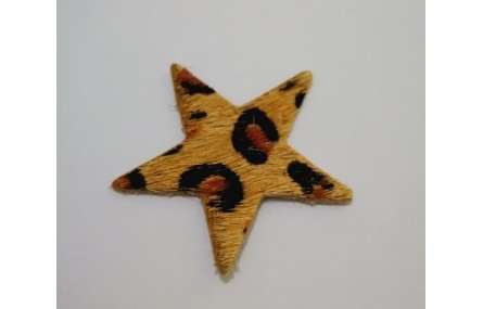Estrella Piel Tintada 27mm Leopardo