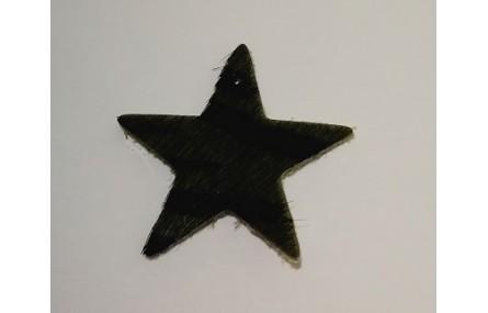 Estrella Piel Tintada 27mm Cebra Gris