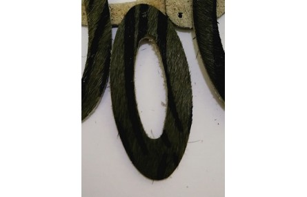Aro Ovalado Piel Tintada 39mm Cebra Gris