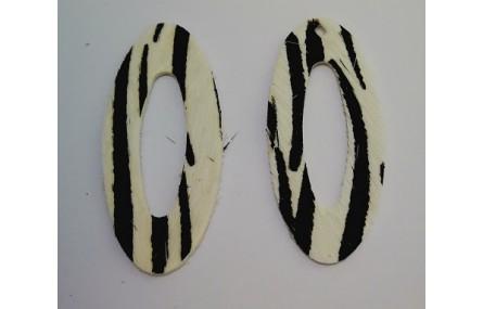 Aro Ovalado Piel Tintada 39mm Cebra