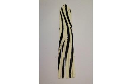 Fleco Piel tintada 92mm largo Cebra
