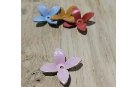 Flor Cuero 30mm Rosa