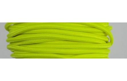 Cordón Goma Alta Calidad 3mm Amarillo Fosforito