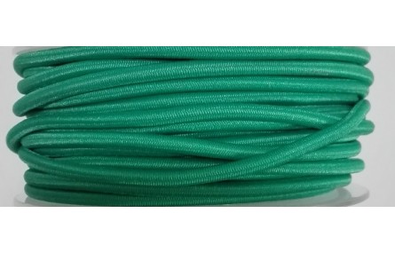Cordón Goma Alta Calidad 3mm Verde Turquesa