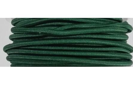 Cordón Goma Alta Calidad 3mm Verde Oscuro