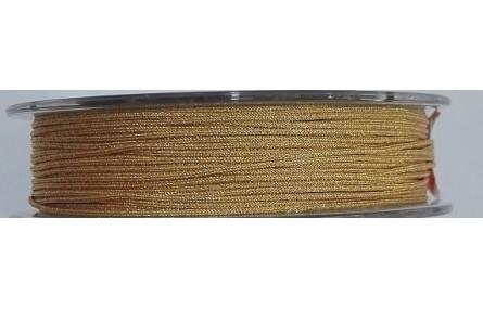 Hilo Macramé metálico dorado 0,85mm