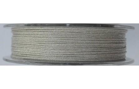 Hilo Macramé metálico plata 0,85mm